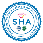 COVID-19 SAFE WITH SHA CERTIFIED FROM BOARD OF TOURISM AND MINISTRY OF PUBLIC HEALTH